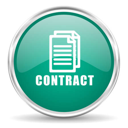 pacto: contrato web icono azul brillante c�rculo