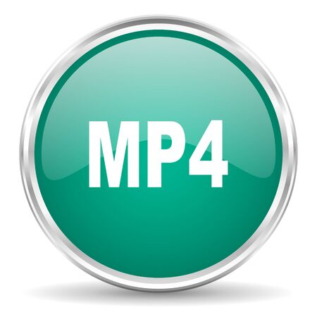 mp4: mp4 blue glossy circle web icon