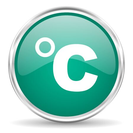 celsius: celsius blue glossy circle web icon Stock Photo