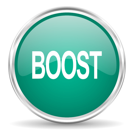 boost: boost blue glossy circle web icon