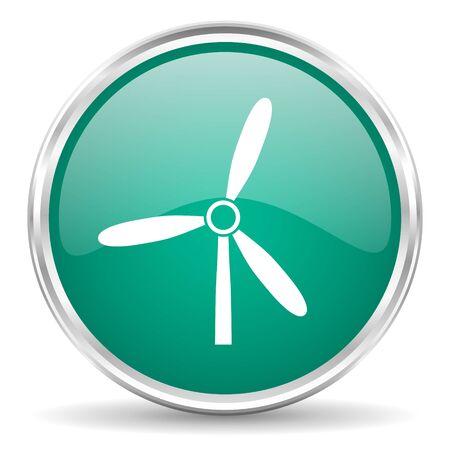 steel mill: windmill blue glossy circle web icon
