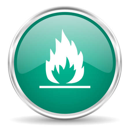 blue flame: flame blue glossy circle web icon