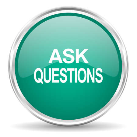 ask: ask questions blue glossy circle web icon