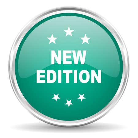edition: new edition blue glossy circle web icon