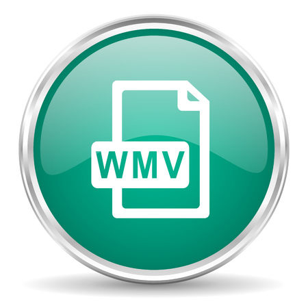wmv: wmv file blue glossy circle web icon