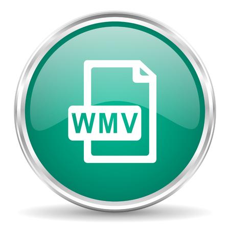 wmv: wmv file blue glossy circle web icon