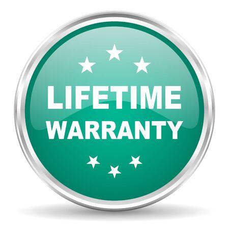 lifetime: lifetime warranty blue glossy circle web icon