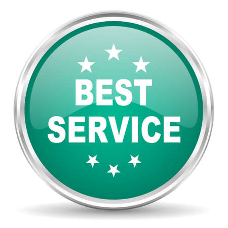 best service: best service blue glossy circle web icon