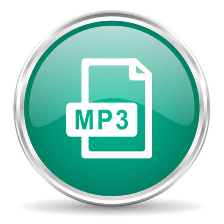 mp3: mp3 file blue glossy circle web icon