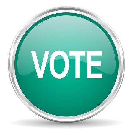 voter: vote blue glossy circle web icon