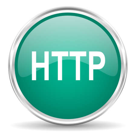 http: http blue glossy circle web icon Stock Photo