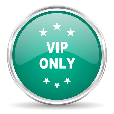 premium member: vip only blue glossy circle web icon