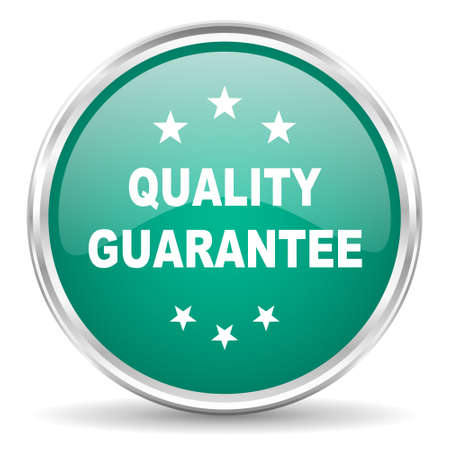 quality guarantee: quality guarantee blue glossy circle web icon