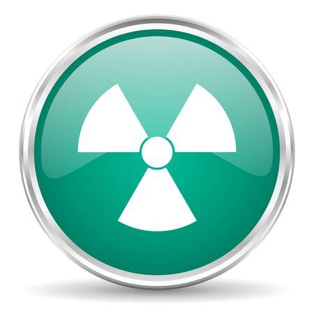 gamma radiation: radiation blue glossy circle web icon Stock Photo