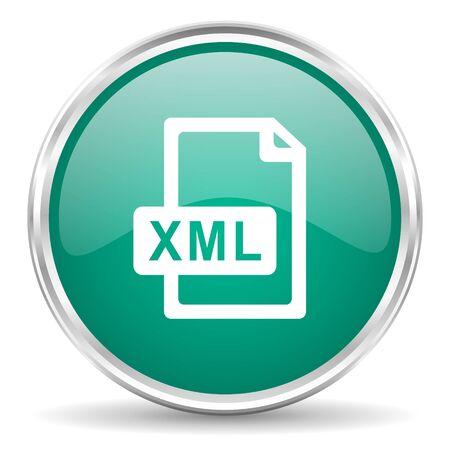 xml: xml file blue glossy circle web icon