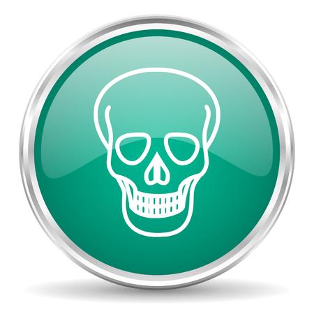 pirating: skull blue glossy circle web icon Stock Photo