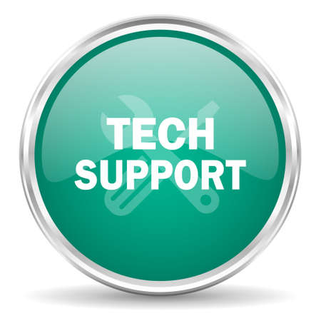 advisor: technical support blue glossy circle web icon Stock Photo