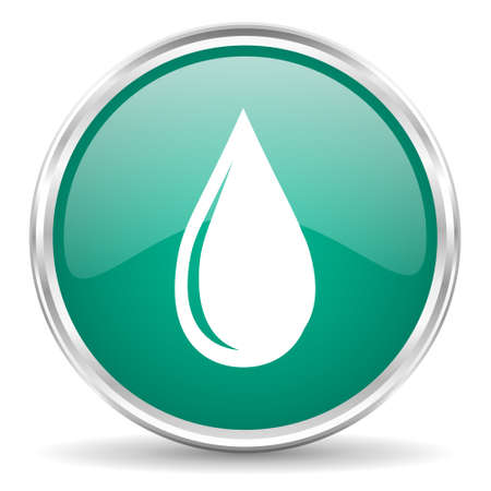 waterdrops: water drop blue glossy circle web icon