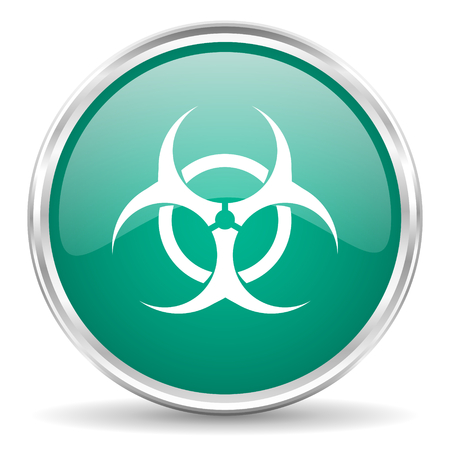 biohazard: biohazard blue glossy circle web icon