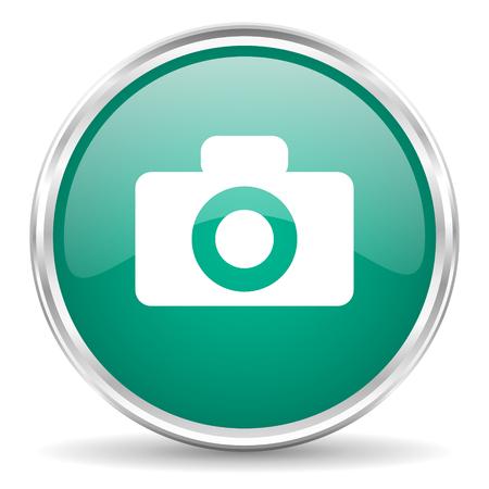 picto: camera blue glossy circle web icon