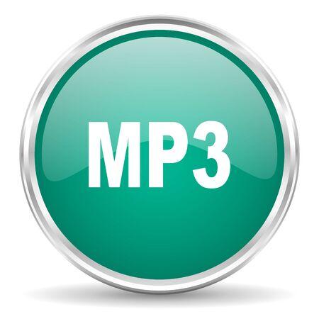 mp3: mp3 blue glossy circle web icon Stock Photo