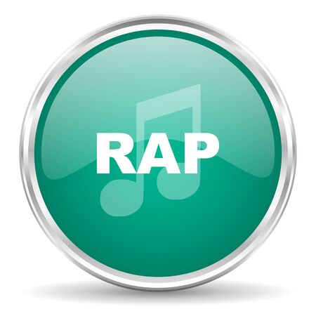 rap music: rap music blue glossy circle web icon