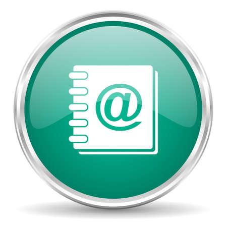 web address: address book blue glossy circle web icon
