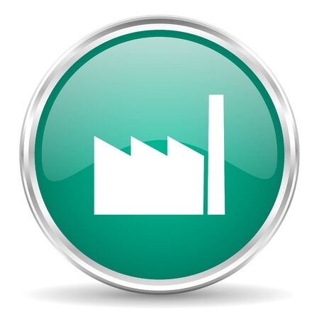 industrial complex: factory blue glossy circle web icon Stock Photo