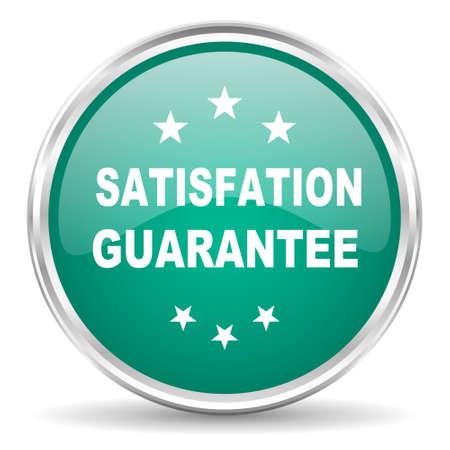 satisfaction guarantee: satisfaction guarantee blue glossy circle web icon