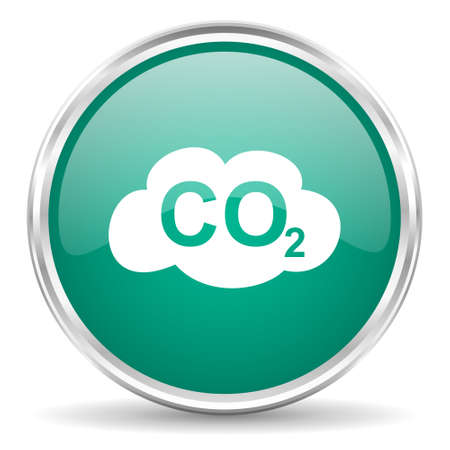 carbon dioxide: carbon dioxide blue glossy circle web icon