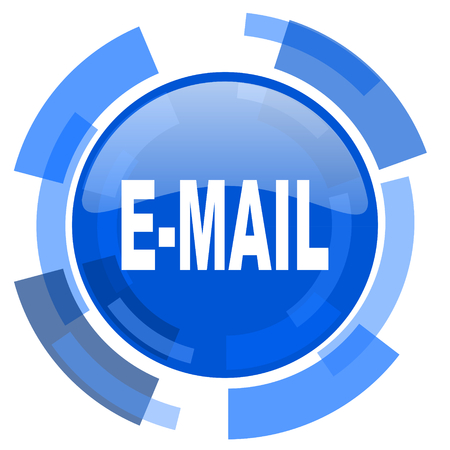 secretariat: email blue glossy circle modern web icon