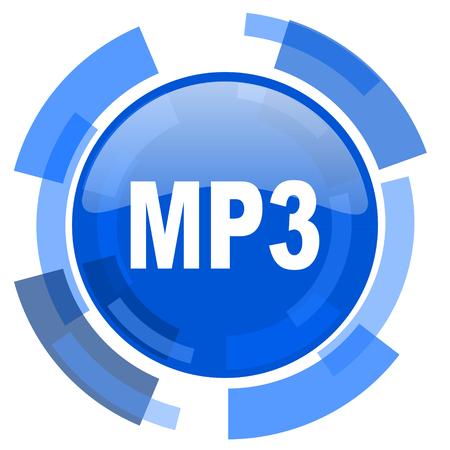 mp3: mp3 blue glossy circle modern web icon