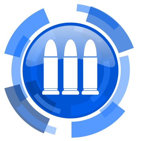 ammunition: ammunition blue glossy circle modern web icon