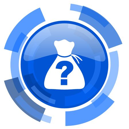 riddle: riddle blue glossy circle modern web icon