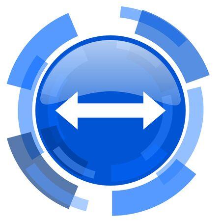 sterring: arrow blue glossy circle modern web icon