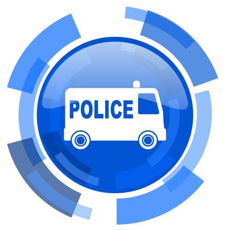patrolman: police blue glossy circle modern web icon