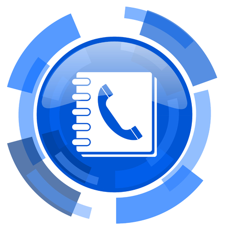 phonebook: phonebook blue glossy circle modern web icon