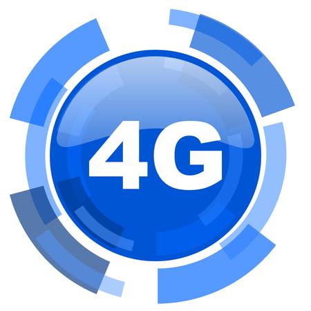 4g: 4g blue glossy circle modern web icon