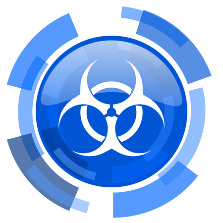 varez: biohazard blue glossy circle modern web icon