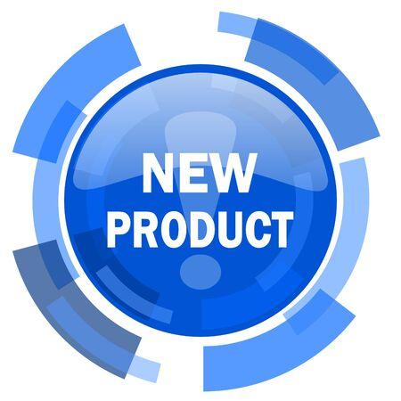 nieuw product blauwe cirkel glanzende moderne web icon
