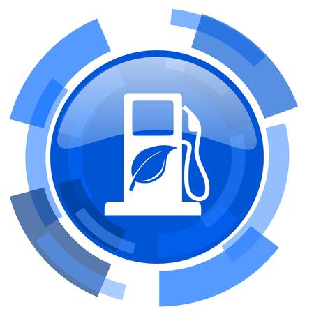 canola: biofuel blue glossy circle modern web icon