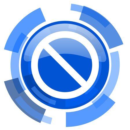access denied: access denied blue glossy circle modern web icon