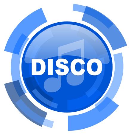 listen live stream: disco music blue glossy circle modern web icon