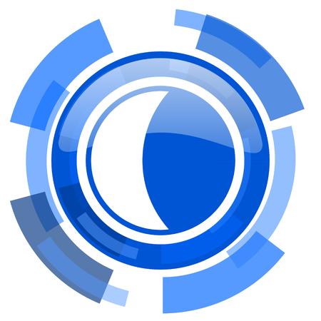 keys to heaven: moon blue glossy circle modern web icon