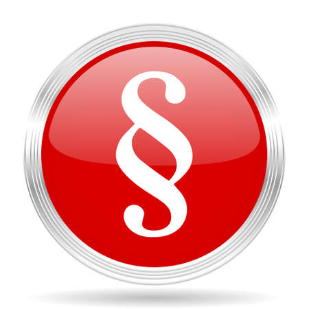 paragraph: paragraph red glossy circle modern web icon on white background Stock Photo