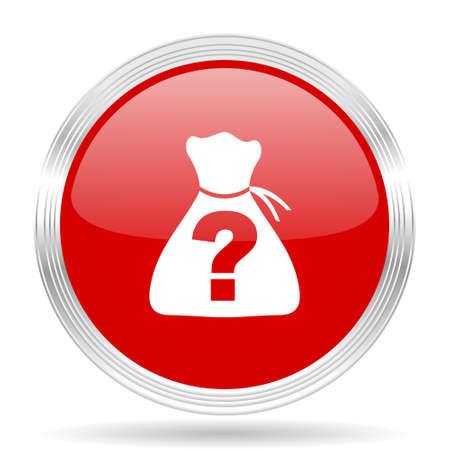 riddle: riddle red glossy circle modern web icon on white background