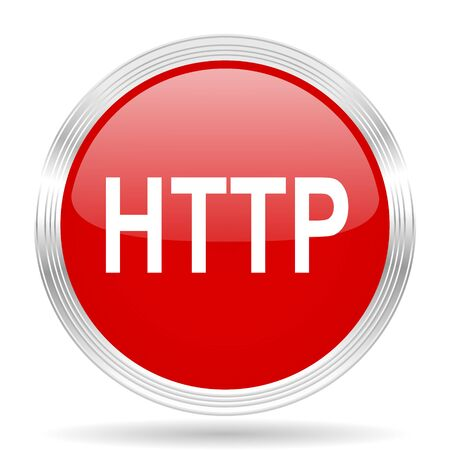 http: http red glossy circle modern web icon on white background