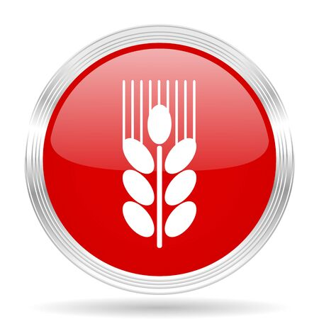 crop circles: grain red glossy circle modern web icon on white background