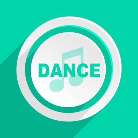 listen live stream: dance music flat design modern web icon with shadow for internet and app