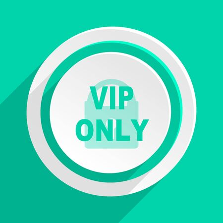 celebrities: vip only flat design modern web icon with shadow for internet and app
